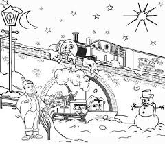 thomas snow christmas coloring pages cartoon coloring pages