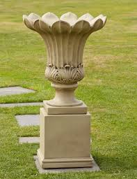 annecy vase on pedestal large garden planter buy now at
