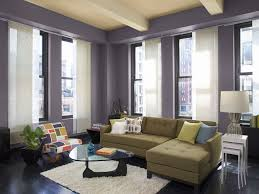 purple green and yellow living room house design ideas