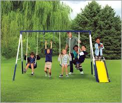 baby swing swing set swing set with baby swing 5505 sportspower grove park 4 leg metal