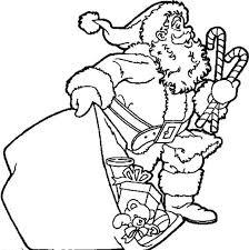 santa claus lots christmas gift coloring pages