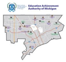 Map Of Detroit Michigan Map Educational Achievement Authority Schools In Detroit