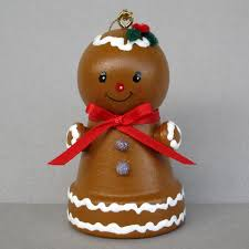 christmas gingerbread bell ornament 7 99 via etsy clay pot