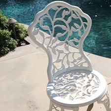 Balcony Bistro Set Patio Furniture by 3pc Bistro Set In Antique Outdoor Patio Furniture Leaf Design Cast