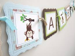 Monkey Decorations For Nursery It S A Boy Monkey Banner Nursery Baby Shower Decoration