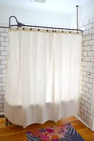 Clawfoot Tub Shower Curtain Liner Clawfoot Tub Shower Sticking Problem Solved The White Apartment