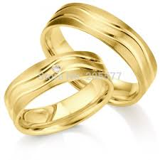 wedding ring designs gold classic design gold plating layer handmade titanium pair wedding