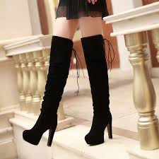 womens high heel boots size 9 womens platform nightclub faux suede high heels the knee