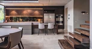 Concrete Kitchen Cabinets Kitchen Floor Light Brown Cabinets Stainless Steel Handles