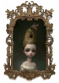 queen bee painting of a lady with a beehive hairdo by mark ryden