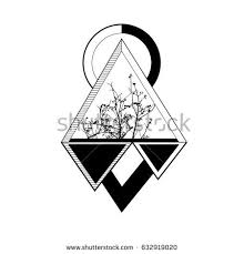 tree geometrical style stock vector 632919020