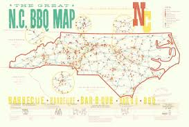 Wilmington Nc Map The Great Nc Bbq Map Design Archives Emporium Greensboro And
