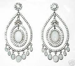 gala earrings butler and wilson clear large gala earrings new ebay
