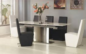 table contemporary awful modern extendable glass dining table