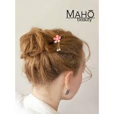 japanese hair pin hair accessory kanzashi hairpin cherry tree pink