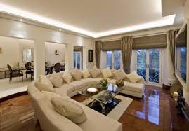 Simple But Elegant Home Interior Design Cream Velvet Sofa White Plastic Chairs Floating Pure Stained Pine