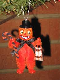 vintage style mini chenille halloween chenille novelty ornament