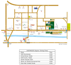 Bahadurgarh Metro Map by Omaxe The Forest Spa Penthouse In Noida