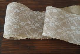 burlap and lace ribbon burlap and lace roll rustic wedding decor
