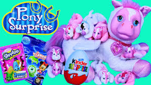 new pony surprise unicorn u0026 pegasus puppy surprise kinder eggs