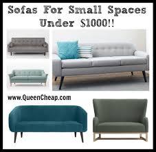 Sofas For Small Spaces by Sofas For Small Spaces Mid Century Modern Under 1000