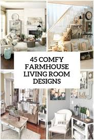 Large Living Room Furniture 45 Comfy Farmhouse Living Room Designs To Steal Digsdigs