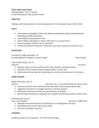Examples Of Basic Resumes by Standard Resume Examples