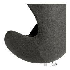 egg chair replica charcoal u2013 the design edit