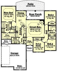 traditional style house plan 4 beds 2 00 baths 1850 sq ft plan
