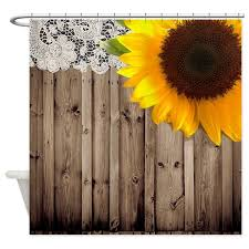 Sunflower Yellow Curtains Rustic Barn Yellow Sunflower Shower Curtain By Listing Store 62325139