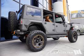 starwood jeep blue 2016 sema starwood custom gray orange jeep jk wrangler unlimited