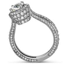 halo design rings images Designer 1 carat round halo diamond engagement ring for women in jpg