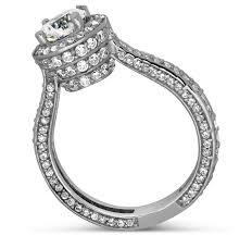 halo design rings images Designer 1 carat round halo diamond engagement ring for women in jpg