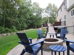 backyard upgrades in weymouth feature new patio and fire pit