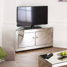 Venetian Mirrored Corner TV Cabinet To Fit TVs Up To - Corner cabinets for plasma tv