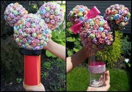 minnie mouse center pieces diy mickey minnie dum dum lollipop centerpieces disneyside