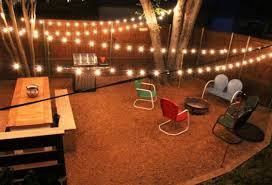 Backyard String Lighting Ideas Refacing Rustic Backyard With Led Patio String Lights Ideas And