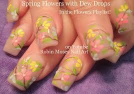 robin moses nail art soft spring daisy nail art tutorial on pink