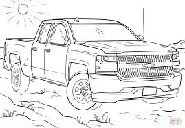 2016 chevy silverado double cab coloring page free printable