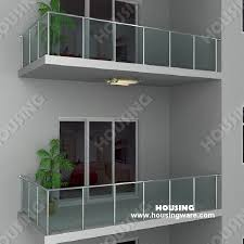 glas f r balkon exterior usage glass railing with simple design for balcony on