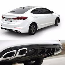 rear bumper hyundai elantra rear bumper diffuser guard black for hyundai elantra avante ad