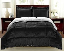 Faux Fur King Size Comforter Amazon Com Cathay Home Fashions Reversible Sherpa Faux Fur Down