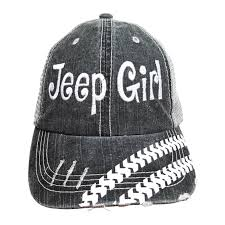 jeep embroidered trucker style cap hat grey white show me