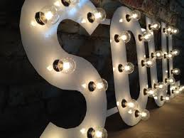 hand made metal letters soul light fixture 18 inch tall marquee