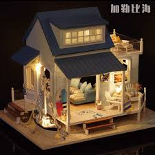 diy miniature seaside house carribean sea 加勒比海 diy big