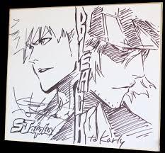 tite kubo sketch ichigo kurosaki et kisuke urahara de bleach