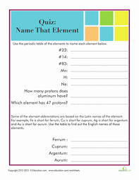periodic table activities high master the periodic table of elements 1 worksheet education com