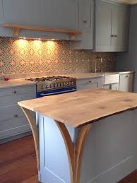 kitchen island worktops small kitchen decoration using light blue and yellow mexican