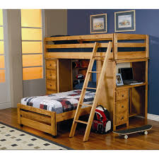 home design bunk bed with desk for smart space solutions decor