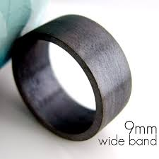 black gold mens wedding band 9mm wedding band black gold plated 925 silver